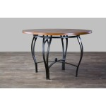 Baxton Studio Mirabella Wood and Metal Contemporary Dining Table