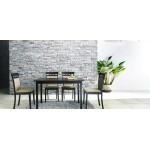 Baxton Studio Polly Dark Brown Wood Modern Dining Table