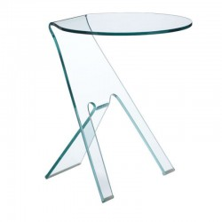 Journey Side Table Clear Glass
