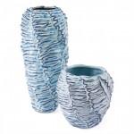 Mar Tall Vase Blue & White