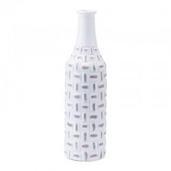Mosaic Bottle Sm Antique White