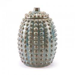 Pinecone Jar Lg Rust