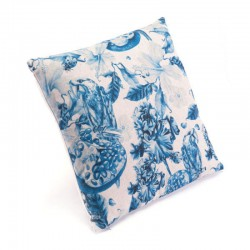 Ramo Blue Pillow Blue & Natural