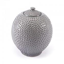 Round Jar Sm Gray