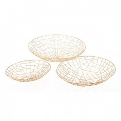 Set Of 3 Gold Plate