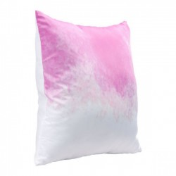 Splash Pillow Pink & White