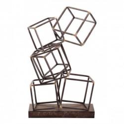 Squares Figurine Antique